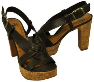 Shoes Orange, Brown or Yellow Sea Side Platform Heels Sandals