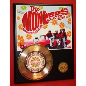 Monkees Laser Etched 24kt Gold Record Hey Hey Were The Monkees LTD