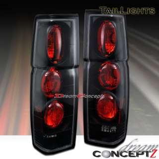 86 97 NISSAN HARDBODY PICKUP TRUCK TAIL LIGHTS BLACK
