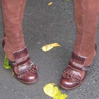 MORENATOM LEATHER KNEE BOOTS Brown Suede Boot Skirt Hippie Tribal Fall
