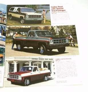 1980 80 GMC PICKUP Truck BROCHURE C1500 C2500 K3500