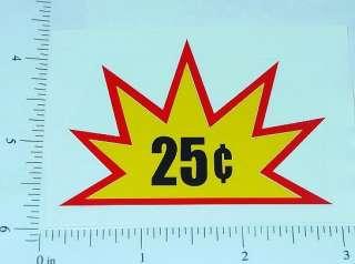 25 Cent Starburst Vending Machine Sticker V 18