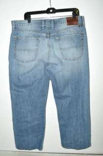 Lucky Brand Mens 181 Relaxed Straight Leg Denim Blue Jeans Size 37x27