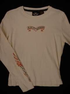 HARLEY DAVISON Logo Long Sleeve T Shirt (Womens Medium)