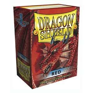 Dragon Shield Sleeves   RED   Standard Size Deck Protectors (100 ct
