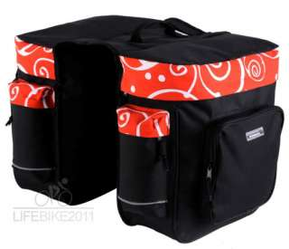 New Bike Cycling bicycle double rear pannier bag 28L