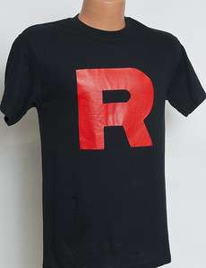 BRAND NEW Pokemon Team Rocket R Mens Unisex Black T Shirt Tee