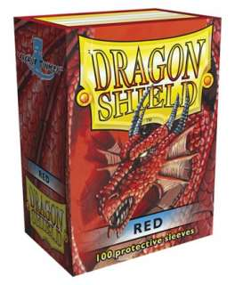 100 Dragon Shield Red Deck Protectors Card Sleeves