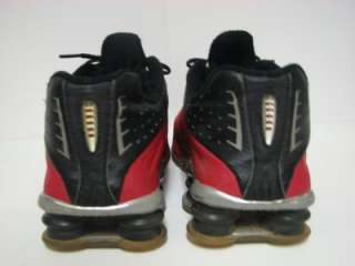 Nike Shox R4 Red & Black Mens size 10 TRASHED WELL WORN SEE PICTURES