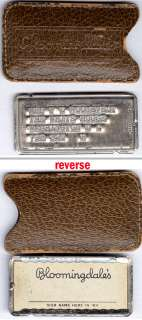 ELEANOR ROOSEVELTS Metal BLOOMINGDALES Charge Card