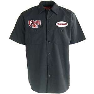 CRIME INC. Partner In Crime Chopper Biker Vintage Work Shirt