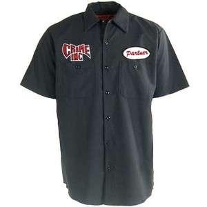 CRIME INC. Partner In Crime Chopper Biker Vintage Work Shirt
