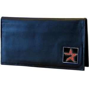 Houston Astros Embossed Leather Checkbook Cover   MLB Baseball Fan