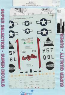 48 SuperScale Decals P 38J 392nd 393rd FS 48 581