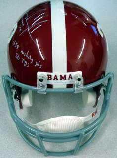 Mark Ingram Autographed Alabama Full Size Helmet Heisman 09, 20 TDs
