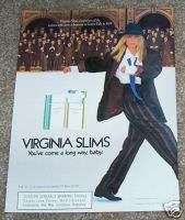 1986 ad Virginia Slims cigarette   women in business