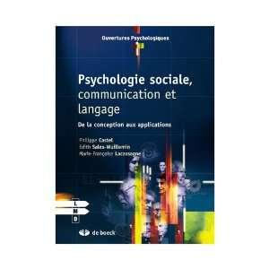 sociale, communication et langage (9782804162528): Castel: Books