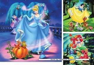 jigsaw puzzle 49 pcs Disney   Snow White Cinderella Ariel (3x)
