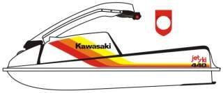 Kawasaki 440 / 550 JetSki Graphics Decal Kit   New PWC