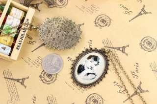 Fashion Rose Eiffel Tower Rabbit Flower Victoria star necklace chain