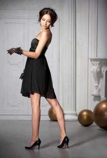 New Chiffon Satin Bowknot Cocktail Party Mini Dress Hot