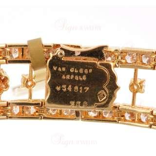 VAN CLEEF & ARPELS Estate 18k Yellow Gold Diamond Necklace & Earrings