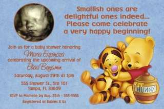 Classic Winnie the POOH Baby Shower Invitations Sonogra