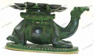 4kg 7 Solid Brass Camel Hump Oil Lamp Diya~India Art