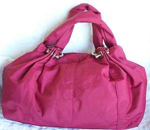 Gap Nylon Wine Purse Shoulder Bag Travel Silver Trim School Work