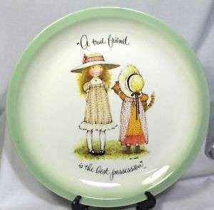 HOLLY HOBBIE A TRUE FRIEND IS THE1972 PLATE 10 INCH