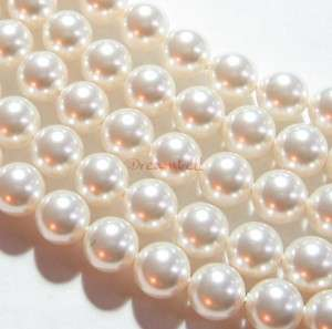 50x Swarovski Crystal Pearls 5810 Round White 4mm