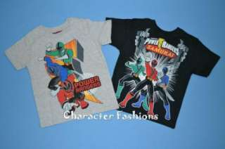 POWER RANGERS Short Sleeve Shirt Tee Top Size 4 5 6 7 BOYS SAMURAI