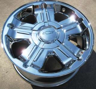NEW 18 FACTORY AVALANCHE SILVERADO SUBURBAN TAHOE CHROME RIMS