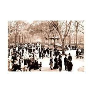 Central Park Panoramic View of the Mall c1902 12x18 Giclee