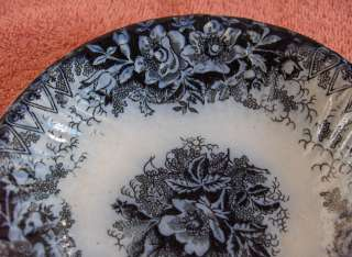 Antique Royal Bonn China Flow Blue Dessert Bowl