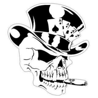 Skull 8 top Hat Airbrush Stencil air Brush Template