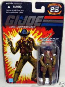 GI Joe Wild Bill Helicopter Pilot Action Figure MOC