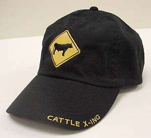 Dodge Cattle X Ing Brand Hat Black Adjustable Back