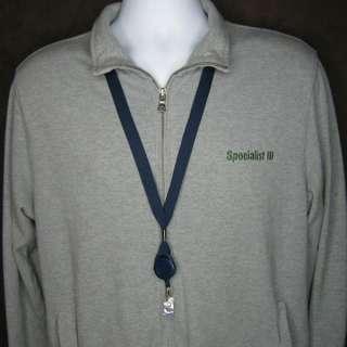 Navy Blue Lanyard Badge Reel Combo ID Badge Holder 2138 7003