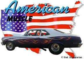on 1 1971 Blue Chevy Nova Race Car Custom Hot Rod USA T Shirt 71