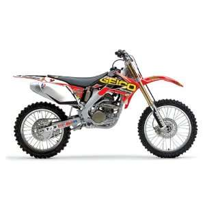GRAPHICS/SEAT KIT  Honda CRF 450 2005 2006   61040 010 252: Automotive