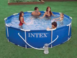 INTEX Metal Frame Set 10 x 30 Swimming Pool with Filter Pump