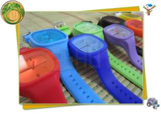 Unisex Jelly Candy Sports Quartz Wrist Watch 12 colors