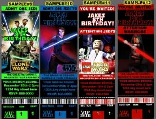 STAR WARS LEGO CLONE BIRTHDAY PARTY INVITATIONS 84¢ Ea