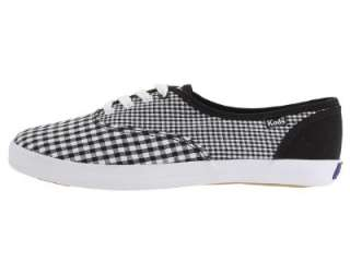 Keds Champion Ladies Black and White Gingham Fashion Sneaker (See