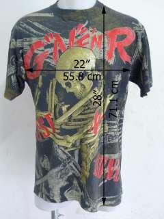 GUN N ROSES 1992 Vintage T shirt Tour VTG Bone Brockum, OFFICIAL