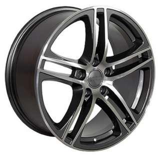 17 x 7.5 Gunmetal R8 Style Wheel Fits Audi A4 A6 A8 Allroad