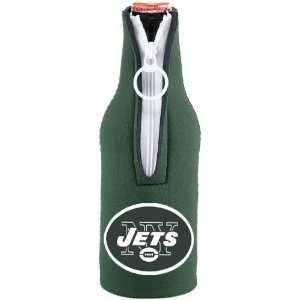 NFL New York Jets Green Team Logo Neoprene Bottle Coolie