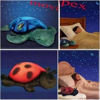 Twilight Sea Turtle and Lovely Ladybug help comfort children to sleep