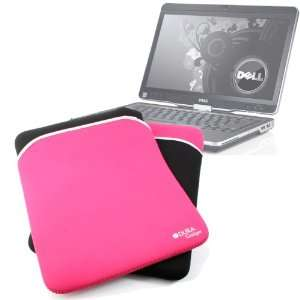 com Protective Black & Pink Reversible Neoprene Laptop Case For Dell